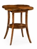 Jonathan Charles Fine Furniture - Casually Country Quatrefoil Lamp Table in Walnut - 491043-CFW