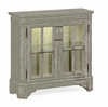 Jonathan Charles Fine Furniture - Casually Country Rustic Grey Low Bookcase with Strap Handles - 491067-RGA