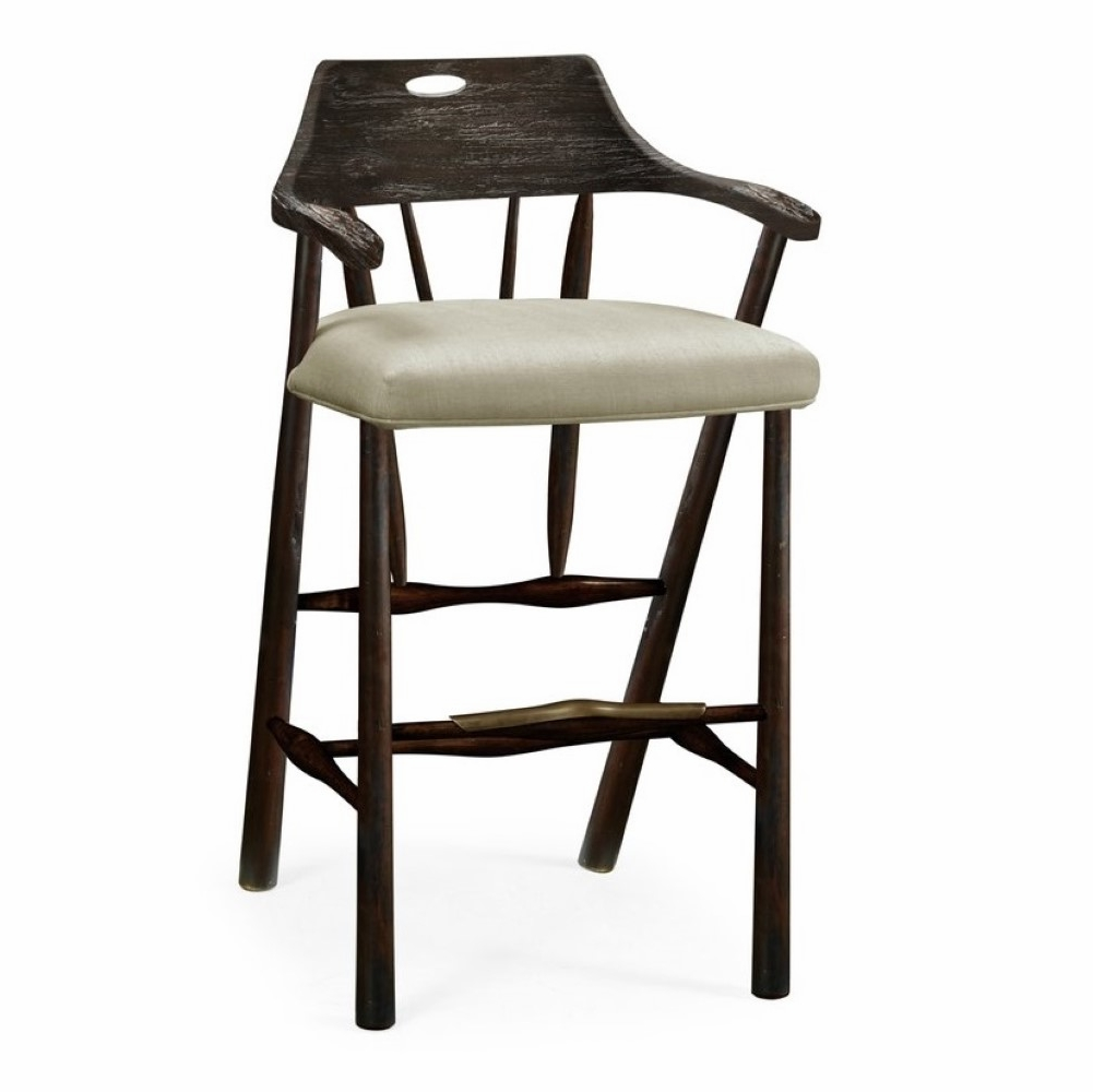Incredible Jonathan Charles Fine Furniture Sherwood Oak Smokers Style Grey Oak Bar Stool With Grey Leather 495887 Bs Gyo Alphanode Cool Chair Designs And Ideas Alphanodeonline