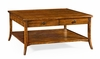 Jonathan Charles Fine Furniture - Casually Country Square Coffee Table in Country Walnut - 491041-CFW