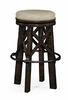 Jonathan Charles Fine Furniture - Casually Country Style Dark Ale and Iron Bar Stool Upholstered in Mazo - 491071-PDA-F001