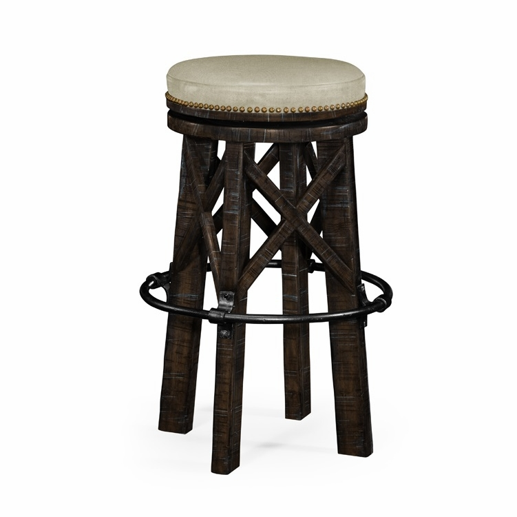 Strange Jonathan Charles Fine Furniture Casually Country Style Dark Ale And Iron Bar Stool Upholstered In Mazo 491071 Pda F001 Alphanode Cool Chair Designs And Ideas Alphanodeonline