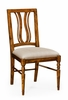 Jonathan Charles Fine Furniture - Casually Country Walnut Curved Back Side Chair Upholstered Seat in Mazo (Set of 2) - 491102-SC-CFW-F001