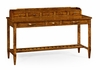 Jonathan Charles Fine Furniture - Casually Country Walnut Plank Buffet with Strap Handles - 491073-CFW
