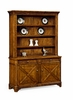 Jonathan Charles Fine Furniture - Casually Country Walnut Style China Cabinet - 491070-CFW