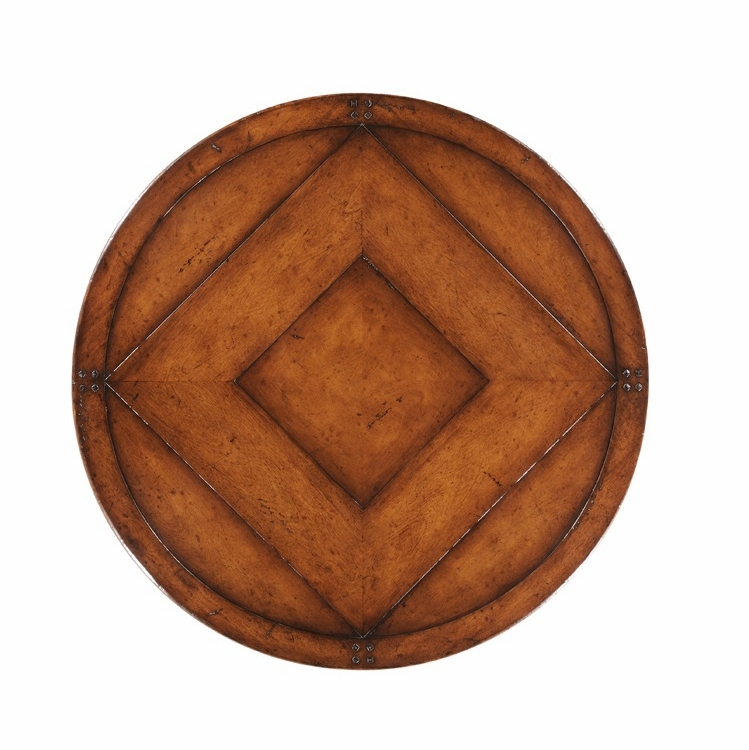 """Jonathan Charles Fine Furniture - Country Farmhouse 32"""" Country Walnut Lazy Susan - 494054-LS-32D-WAL"""
