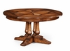 """Jonathan Charles Fine Furniture - Country Farmhouse 59"""" Round Country Extending Dining Table - 494079-59D-WAL"""