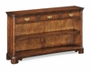 Jonathan Charles Fine Furniture - Country Farmhouse Low Walnut Open Bookcase - 493917-WCD