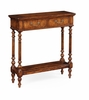 Jonathan Charles Fine Furniture - Country Farmhouse Narrow Walnut Small Console Table - 493143-WCD