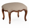 Jonathan Charles Fine Furniture - Country Farmhouse Small French Provincial Walnut Footstool - 493892-WAL-F001