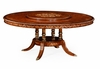 "Jonathan Charles Fine Furniture - Duchess 70"" Burl and Mother of Pearl Round Dining Table - 499010-70D-BRW"