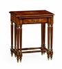 Jonathan Charles Fine Furniture - Duchess Burl and Mother of Pearl Inlaid Nest of Two Tables with Carved Legs - 499426-BRW