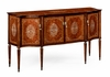 Jonathan Charles Fine Furniture - Duchess Burl and Mother of Pearl Inlaid Serpentine Sideboard - 499189-BRW