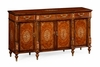 Jonathan Charles Fine Furniture - Duchess Burl and Mother of Pearl Inlaid Sideboard Wood Door - 499416-BRW-MOP