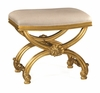 Jonathan Charles Fine Furniture - Duchess Gilded Footstool with Shell Decoration - 493052-AGL-F001
