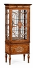 Jonathan Charles Fine Furniture - Duchess Right Opening Burl and Mother of Pearl Display Cabinet - 499320-RGT-BRW