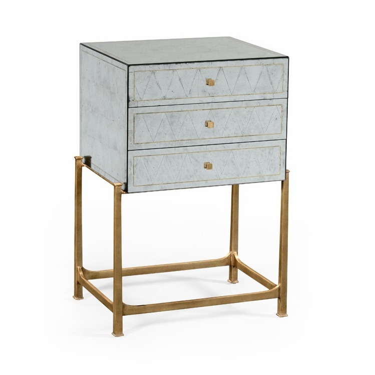 Jonathan Charles Fine Furniture Luxe Eglomise And Gilded High Chest Of Drawers 494379 G Ges