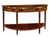 Jonathan Charles Fine Furniture - Regency Large Demilune Console Table with Low Shelf - 499518-MAM