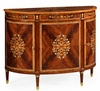 Jonathan Charles Fine Furniture - Regency Mahogany and Mother of Pearl Demilune Cabinet - 499504-MAM-MOP