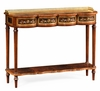 Jonathan Charles Fine Furniture - Regency Mahogany Console Table with Mother of Pearl and Marquetry - 499503-MAM-MOP