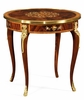 Jonathan Charles Fine Furniture - Regency Mahogany Lamp Table with Mother of Pearl and Marquetry - 499501-MAM-MOP