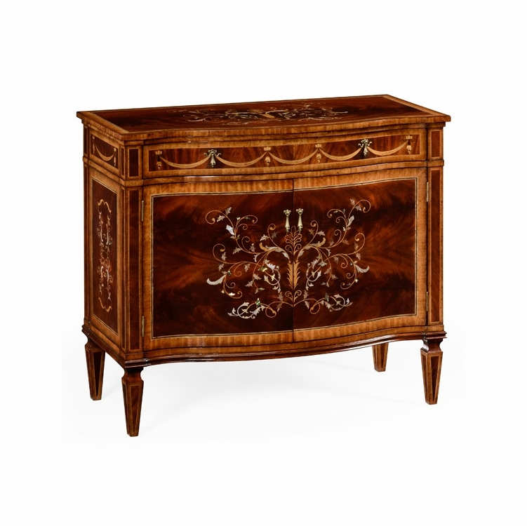 Jonathan Charles Fine Furniture - Regency Small Mahogany and Mother of Pearl Side Cabinet - 499341-MAM