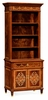 Jonathan Charles Fine Furniture - Regency Tall Mahogany and Mother of Pearl Bookcase On Chest - 499495-MAM-MOP