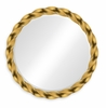 "Jonathan Charles Fine Furniture - Twist 35"" Gilded Twisted Mirror - 495076-35D-GIL"