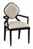 Jonathan Charles Fine Furniture - Twist Black Barleytwist Dining Armchair Upholstered in Mazo (Set of 2) - 500050-AC-BLA-F001