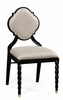 Jonathan Charles Fine Furniture - Twist Black Barleytwist Dining Side Chair Upholstered in Mazo (Set of 2) - 500050-SC-BLA-F001