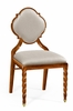 Jonathan Charles Fine Furniture - Twist Walnut Barleytwist Dining Side Chair Upholstered in Mazo (Set of 2) - 500050-SC-TWC-F001