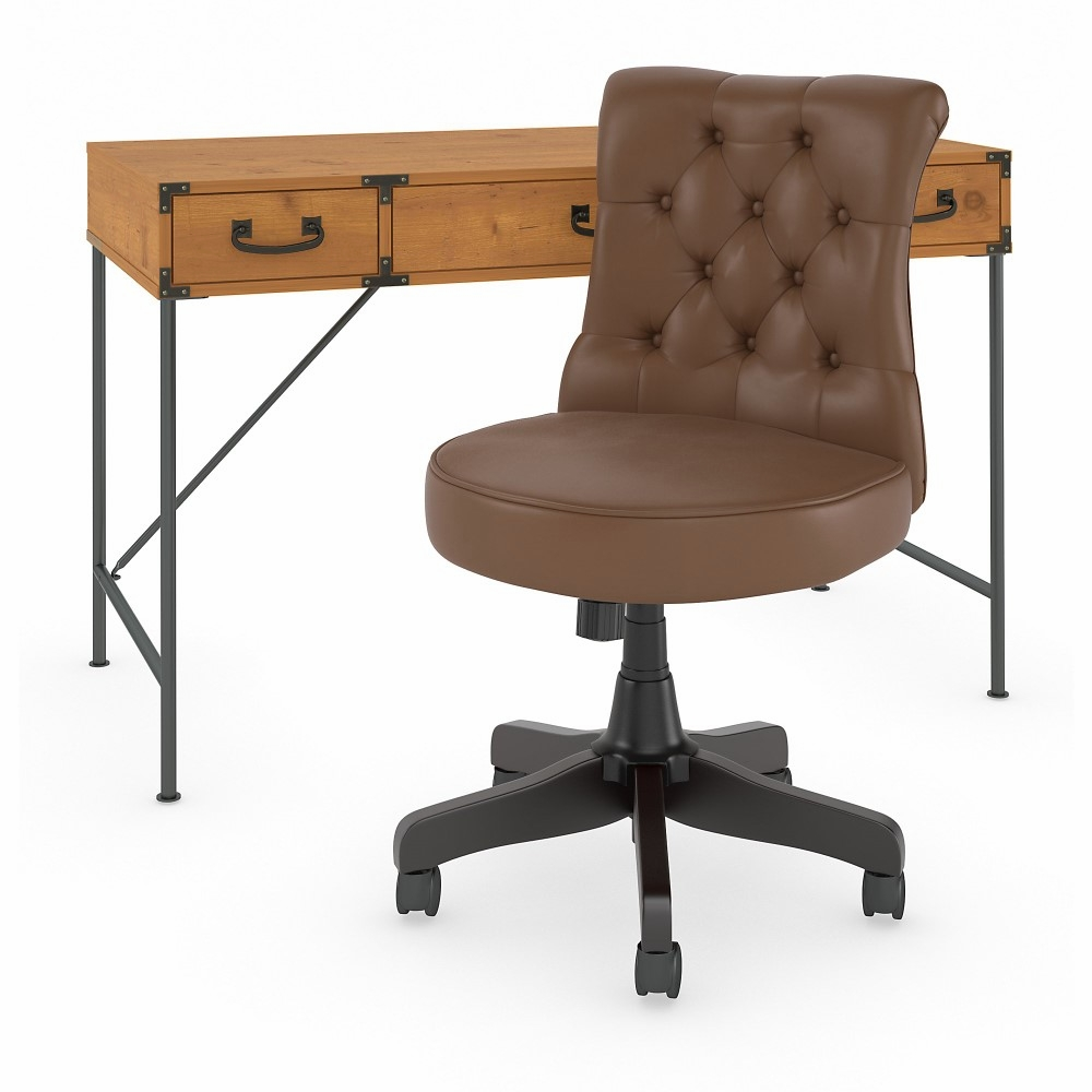 Ironworks Writing Desk With Midback