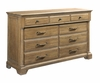 Kincaid Furniture - Stone Ridge Drawer Dresser and Landscape Mirror - 72-160_118