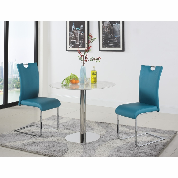 Chintaly - Noemi 3 Pieces Set Table With 2 Melissa Side Chairs - NOEMI-MELISSA-3PC