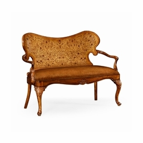 Leather And Fabric Loveseats by Jonathan Charles Fine Furniture