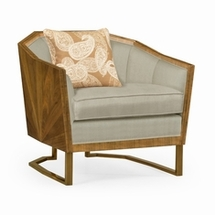 Leather And Fabric Single Chairs by Jonathan Charles Fine Furniture