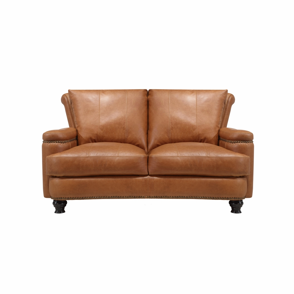 Swell Leather Italia Usa 2493 Hutton Loveseat 1540 Saddle 1669 2493 021540 Gmtry Best Dining Table And Chair Ideas Images Gmtryco