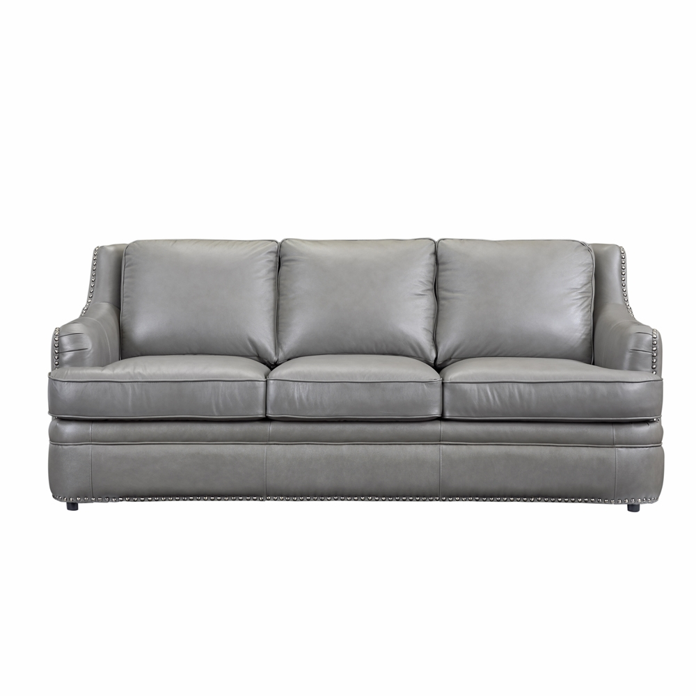 Leather Italia Usa - 9013 Tulsa Sofa 1812 Dk Gray - 1444-9013-031812