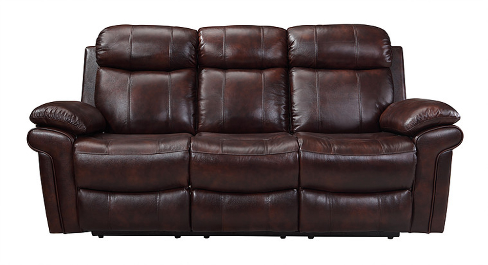 Leather Italia Usa - E2117 Joplin Power Sofa 1081 Lv Brown Zippered ...
