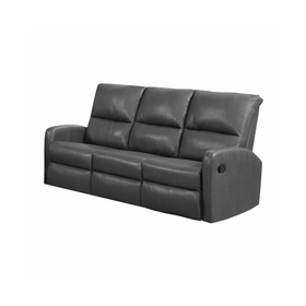 Leather Reclining Sofas by Monarch