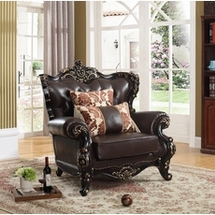 Leather Single Chairs by Meridian Furniture