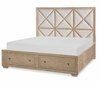 Legacy Classic Furniture - Bridgewater Complete Upholstered Bed With Storage Footboard Queen 5/0 - 7100-4425K