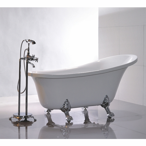 "Legion Furniture - 69"" White Acrylic Tub - No Faucet - WE6310"