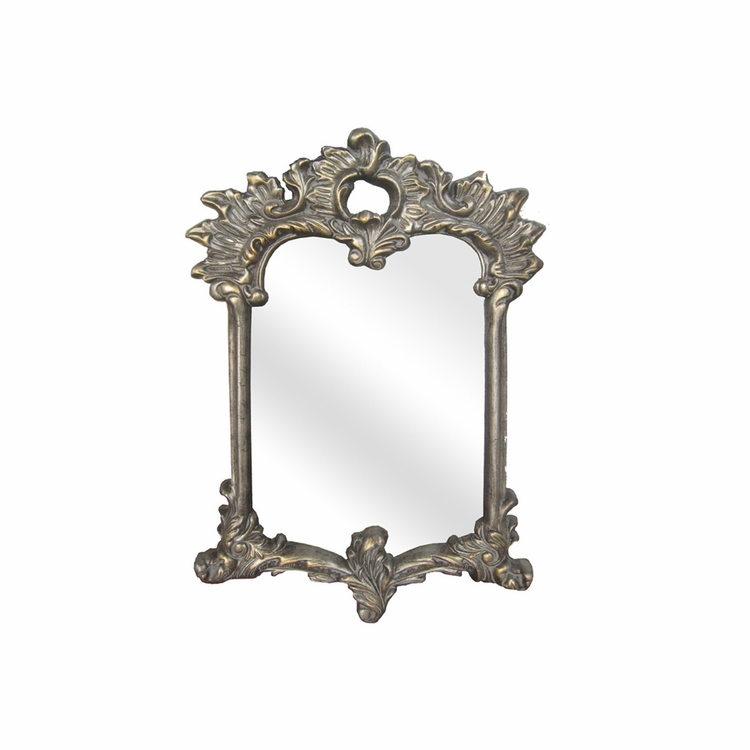 """Legion Furniture - Resin 19.7"""" x 28.3"""" Mirror Overall 41"""" x 28.7"""" in Antique Gold  - LF1258AS"""