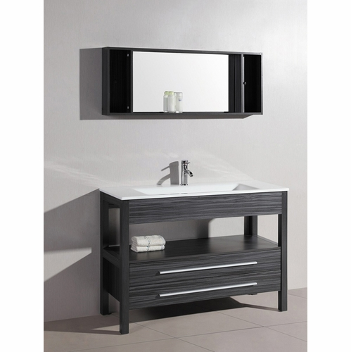 Legion Furniture - Sink Vanity with Mirror in Black And Gray Stripes - No Faucet - WT21306