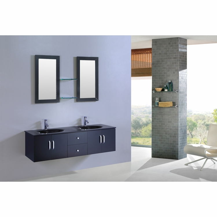 Legion Furniture - Sink Vanity with Mirror in Espresso - No Faucet - WT9001D