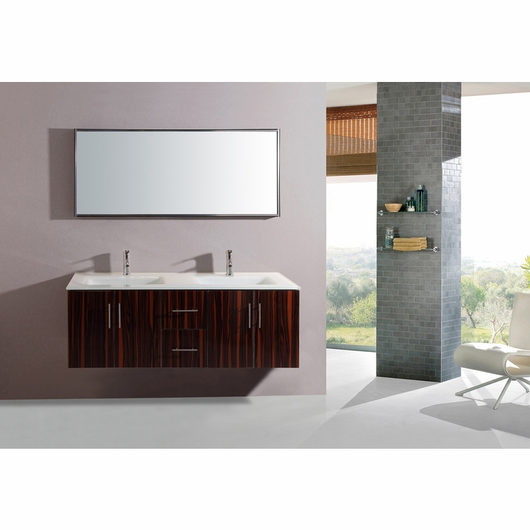 Legion Furniture - Sink Vanity with Mirror in Muti Brown - No Faucet - WT5184