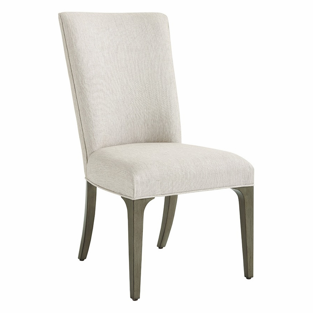 Lexington   Ariana Bellamy Upholstered Side Chair In Rich Gray Finish And  Silver Gray Fabric ...