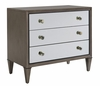 Lexington - Ariana Divonne Three Mirrored Drawer Nightstand In Rich Gray Finish - 01-0732-621