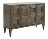 Lexington - Ariana Domaine Four Door Hall Chest In Rich Gray Finish With Silver White Marble Top - 01-0732-972